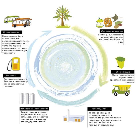 Выход биогаза зависит от