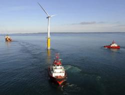 В Германии открыт первый ветропарк на воде