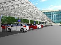 Ford разрабатывает самую крупную солнечную зарядную станцию