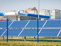 ВМинске наавтозаправочной станции установили солнечные батареи.