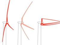 Лопасти гигантских прибрежных ветряков теперь могут складываться