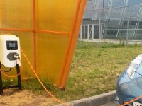 Ваэропорту Казани установлена зарядная станция дляэлектрокаров