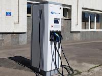 ВМоскве установлена еще одна зарядная станция дляэлектромобилей
