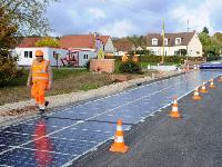 Во Франции испытали дороги изсолнечных батарей