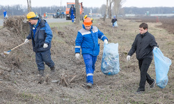 Работники Стойленского ГОКа приняли участие вгородском экологическом субботнике