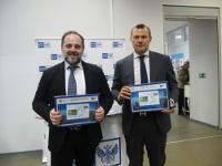 Министр природных ресурсов иэкологии иглава Почты России погасили марку, посвященную Году экологии