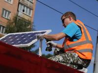 Наостановку вИжевске поставили солнечные батареи