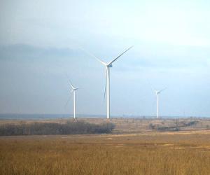 Запущена вработу Каменская ветроэлектростанция