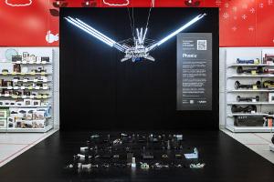Эльдорадо имедиахудожник ::vtol:: (Дмитрий Морозов) представили арт-объект, посвящённый переработке электронных отходов